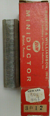 40 Uh Bw Miniductor 3012 Vintage Air Core Inductor 3 34 Dia 32 Tpi 24 Awg