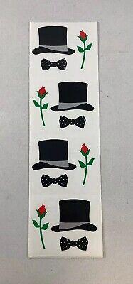 Mrs Grossman's Stickers Top Hat 4 Mod Strip - Bow Tie Rose Prom Wedding - Top Hat Mod