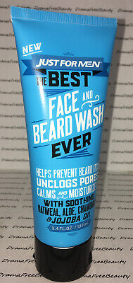 Just for Men 2-in-1 The Best Beard Shampoo & Face Wash 3.4fl.oz Brand New (Best Face Wash For Adults)