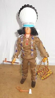 Ancienne figurine vintage PALITOY ACTION MAN vam - INDIAN CHIEF - 70/80s