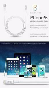 iPhone 6 5 5S 5C iPad 4 mini Air iPod Touch USB Data Sync Cable. Inglewood Stirling Area Preview