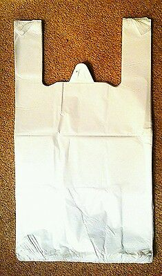3400x Heavy Duty White Vest Plastic Carrier Bags 11