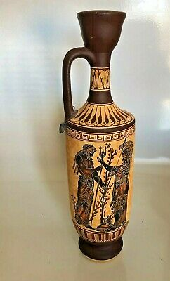 Ancient Greece lekythos Museum Reproduction HandMade Pottery Jug  Egyptian 300BC