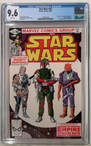 🔥STAR WARS #42 CGC 9.6**(DEC 1980 MARVEL)**1ST APP. OF BOBA FETT**WHITE PAGES**