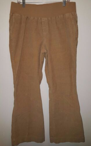Duo Maternity Womens Brown Corduroy Pants Size L