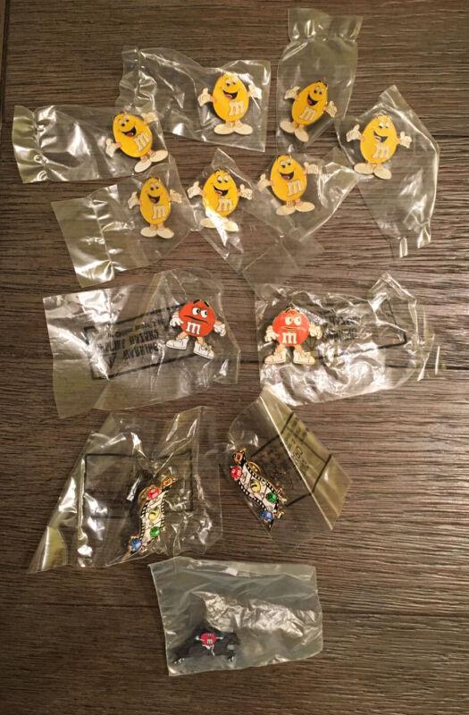 12 Pcs. M&M'S Collectible Enamel Pins NOS Sealed