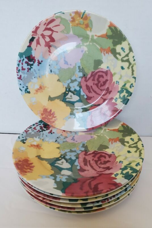 """Park Lane Dibbern China Bread Plate Floral 8"""" lot of 7"""