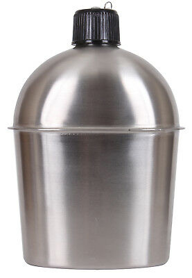Stainless Steel Military Canteen 1.3 Qt Portable Water Bottle Camping Travel (Portable Canteen)