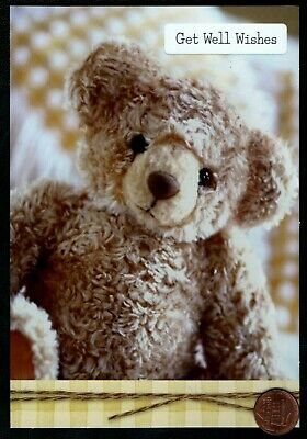 Get Well Wishes Teddy Bear Stuffed Animal   - Get Well Greeting Card NEW ()