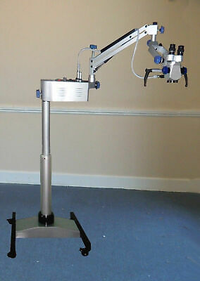 Surgical Operating Ent Microscope With 3 Step Magnifications - Silver