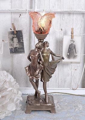 Tischlampe 20er Jahre Frauenfigur Tischleuchte Lampe Nachttischlampe Vintage