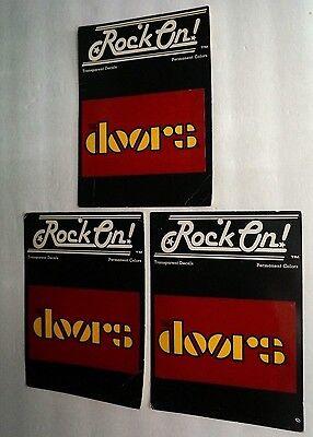1981 Rock On! Vintage Retro THE DOORS Three (3) RARE Window Unused Sticker Lot