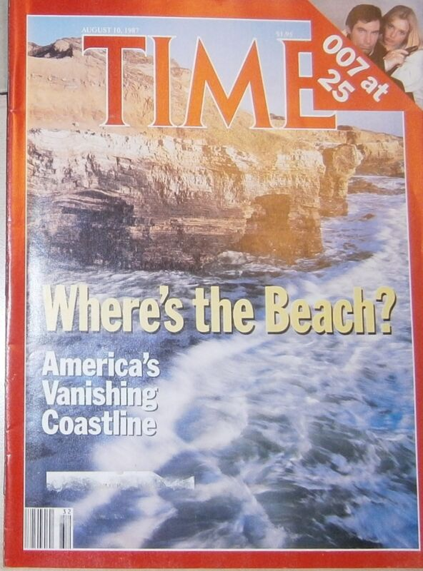 TIME August 10 1987 America's Vanishing Coastline - Plus US Financial Woes