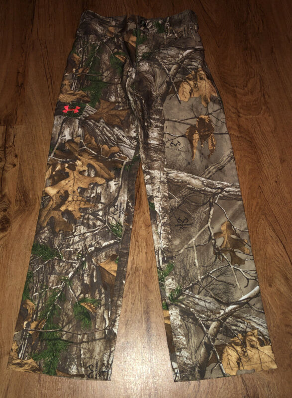 Under Armour Camo Pants Realtree STORM SIZE YOUTH MEDIUM NICE!