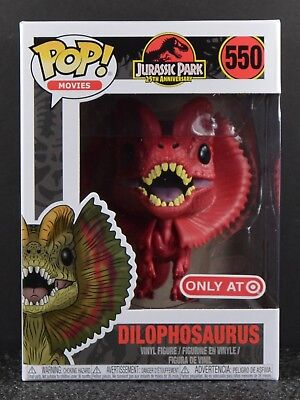 Funko Pop Jurassic Park Red Dilophosaurus  550 25Th Ann  Target Exclusive