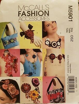 McCall's 5901 Flower Making Craft Pattern New Uncut Super Easy and - Fun Easy Crafts
