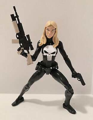 "Custom Marvel Legends 6"" Lady Punisher Lynn Michaels War Zone Mash-Up W/ Guns"