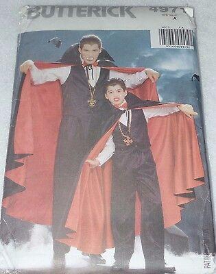 BUTTERICK Patterns: 4971 Mens Vampire Halloween Costume XS-LG Uncut