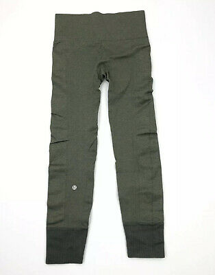Lululemon Leggings Ebb To Street Pants Leggings Size 4 Green