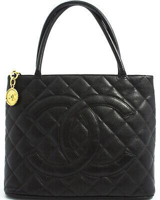 Chanel Medallion (CHANEL MEDALLION TASCHE SCHULTERTASCHE SHOULDER BAG CAVIAR SKIN SCHWARZ BLACK A)
