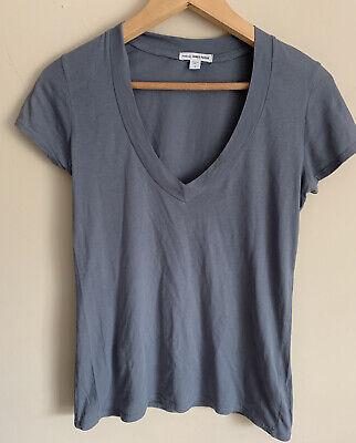 James Perse Cotton Grey V Neck T Shirt.  1