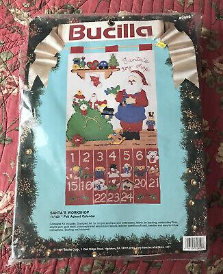 NEW Bucilla SANTA'S WORKSHOP Felt Applique Christmas Advent Calendar Kit 82852