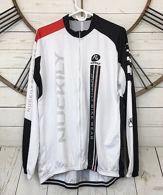 45868cc83 Nuckily Bike Wear Mens Size XXL Long Sleeve Full Zip Cycling Jersey