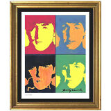 """Andy Warhol Signed/Hand-Numbered Ltd Edtion """"The Beatles"""" Litho Print (unframed)"""