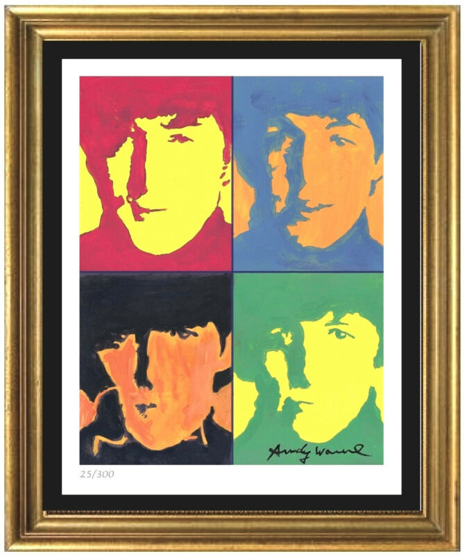 "Andy Warhol Signed/Hand-Numbered Ltd Edtion ""The Beatles"" Litho Print (unframed)"