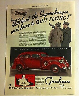 1936 Graham ORIGINAL AD - Great Garage Decor