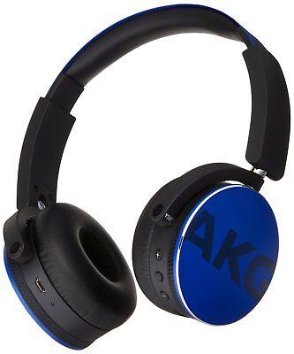 AKG Y50BT Cuffie Bluetooth Wireless Ricaricabili,blu android e Ios