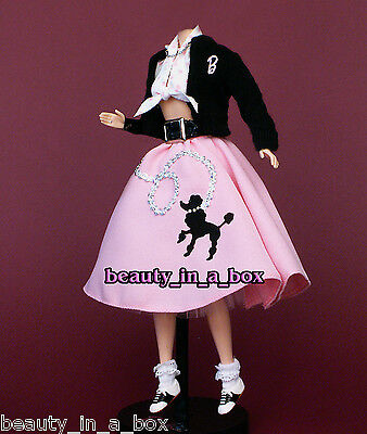 Fifties Outfit (Nifty Fifties Classic 50's Poodle Skirt Fashion Outfit for Barbie)