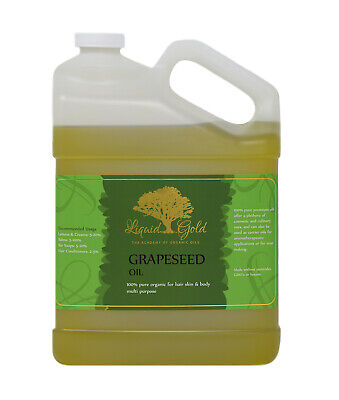 Gallon Premium Grapeseed Oil Pure Organic Unrefined Fresh Best Quality Skin (Best Organic Grapeseed Oil For Skin)