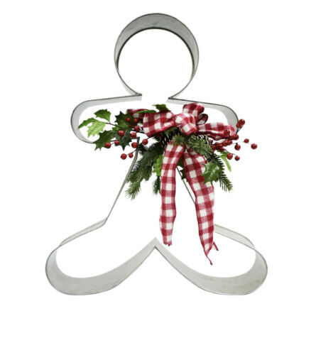 "Christmas Gingerbread man Metal Cookie Cutter Decor, 30"" Seasonal"