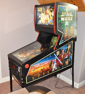 STAR WARS EPISODE I Pinball Machine - Williams 1999 - Pinball 2000!-PERFECT!