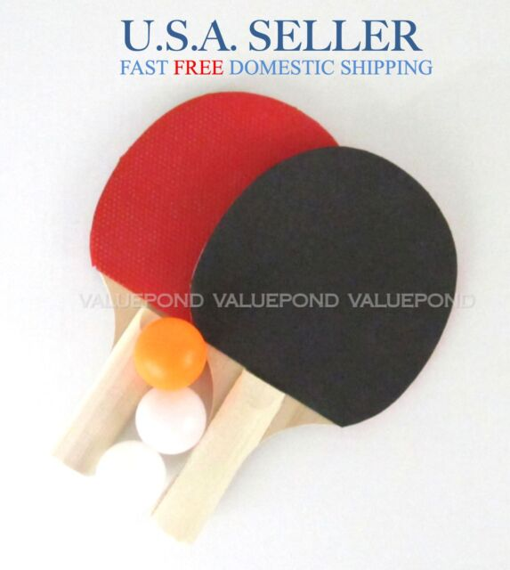 ping pong 2pc paddle set table tennis rubber racket blade batfun for kids