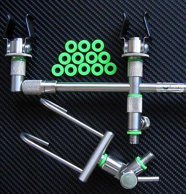 Carp Fishing Tackle Bright Green Silicone O Rings X36 fit Rod Pod 6&12mmØ bgbs36