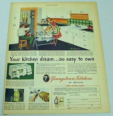 1948 Print Ad Youngstown Kitchens by Mullins Happy Family Warren,Ohio