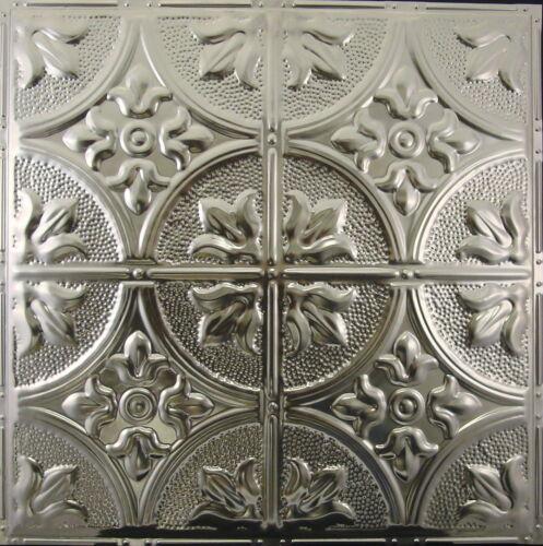#102-Tin Ceiling Tiles  - Unfinished - Nailup, 5 pcs per box