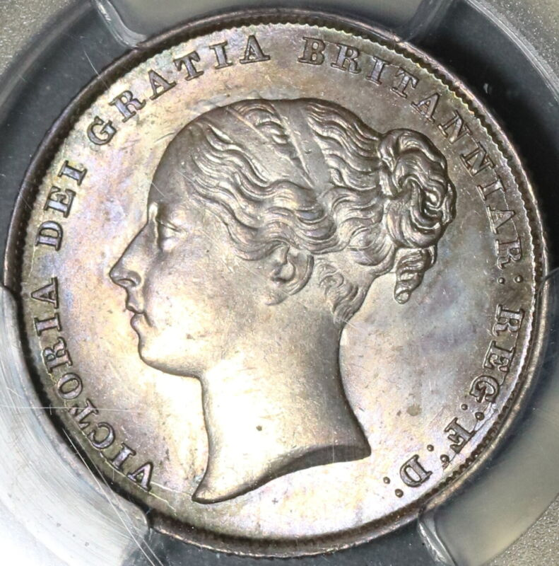 1844 PCGS MS 64 Victoria Shilling Great Britain Silver Mint State Coin 18011704D