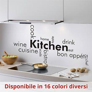 Wall stickers adesivo murale parete cucina kitchen food - Sticker per cucina ...