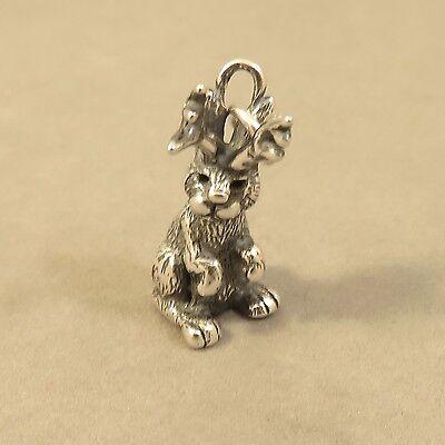 .925 Sterling Silver 3-D JACKALOPE CHARM NEW Rabbit Horns Pendant 925 AN116 ()