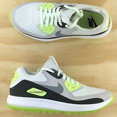 Womens Nike Air Zoom 90 IT White Grey Volt Spikeless Golf Shoes 844648 101 Sz 9