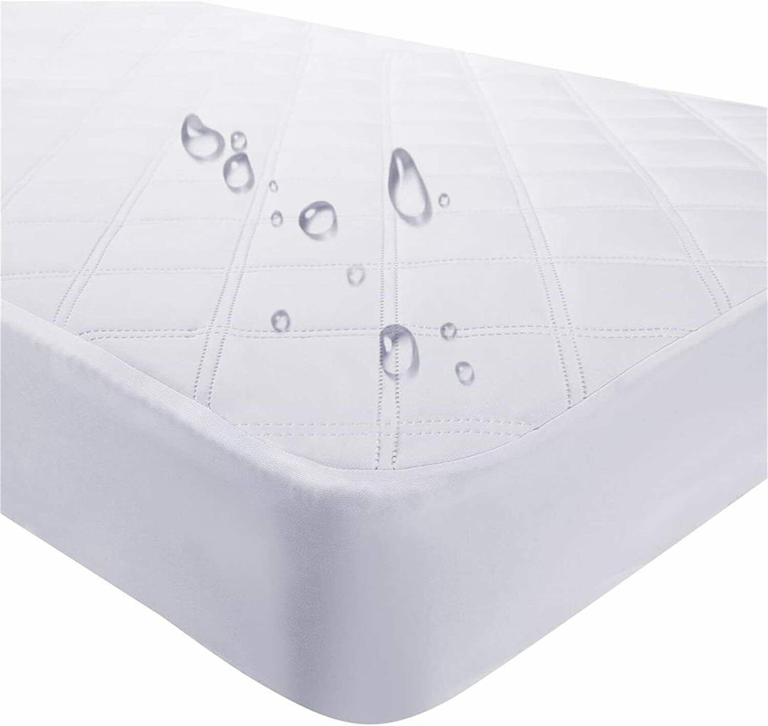Waterproof Fitted Crib Mattress Pad and Toddler 28''x52'', W