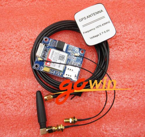 Quadband SIM808 GPS GSM GPRS Module Board L-shape Antenna Replace  SIM908
