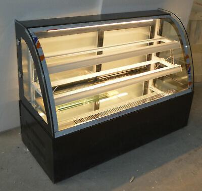 47 Wide Desktop Refrigerated Display Cases Cake Showcase 3 Layer Back Door 220v