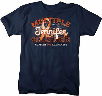 Ms Awareness Shirts (Men's Personalized Multiple Sclerosis T-Shirt Awareness Shirts MS Team Custom)
