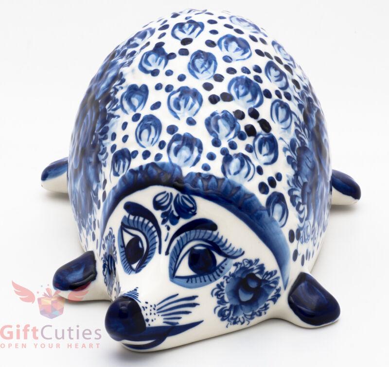 Gzhel porcelain Hedgehog figurine Author