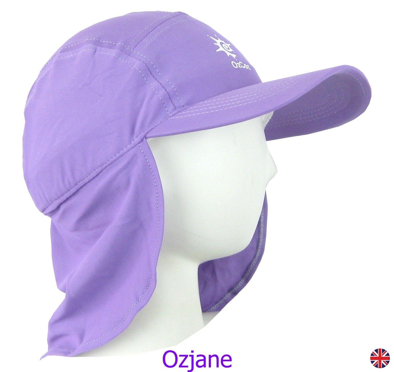 OZCOZ SUN SWIM HAT SUN PROTECTION LEGIONNAIRE PINK 11 TO 14 YRS GIRLS UV 50