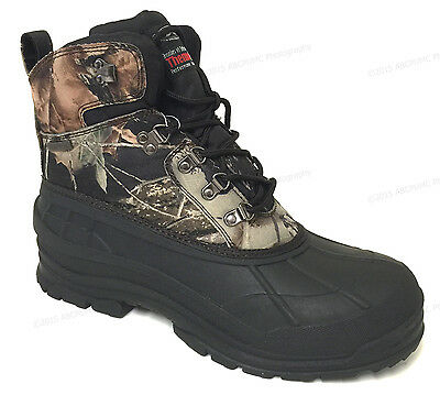 Mens Winter Snow Boots Camouflage Waterproof Insulated Hunting Thermolite Shoes